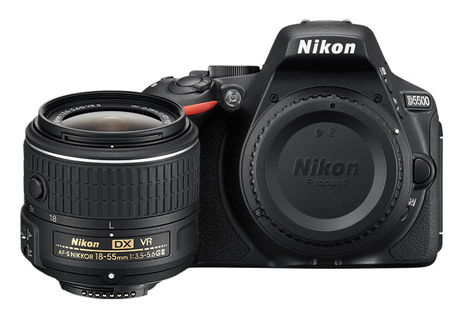 Nikon D5500 + AF-P  DX 18-55mm VR   ( E-Book + Funda  )