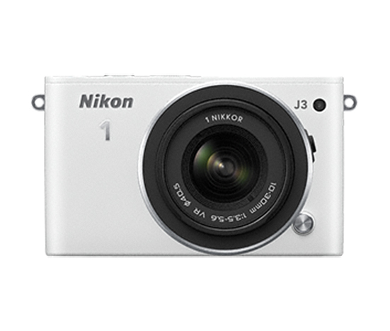 Nikon 1 J3 WHITE Kit de objetivo zoom NIKKOR VR 10–30mm