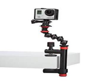 Action Clamp & GorillaPod Arm Negro/Rojo