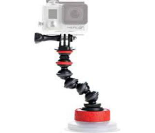 Suction Cup & GorillaPod Arm Negro/Rojo