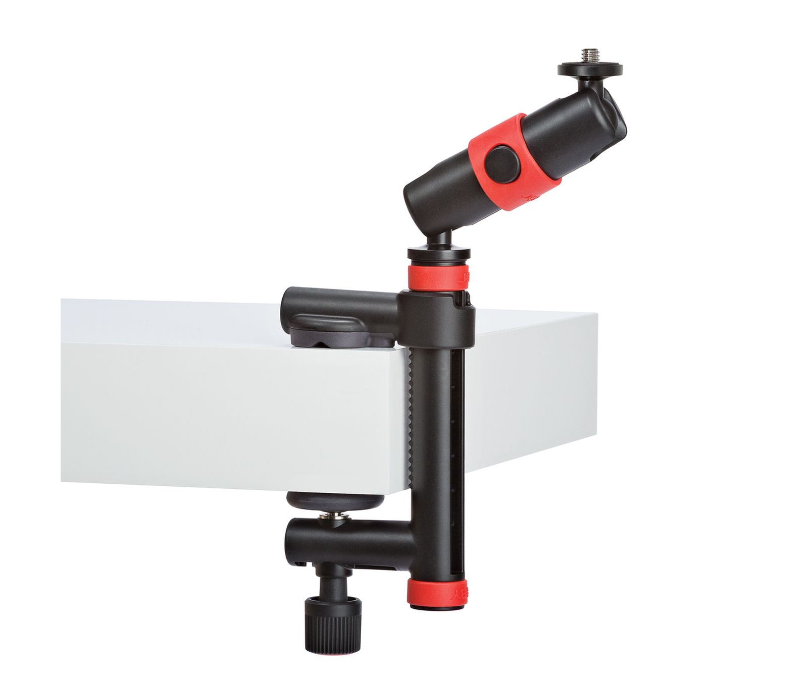 Action Clamp & Locking Arm Negro/Rojo