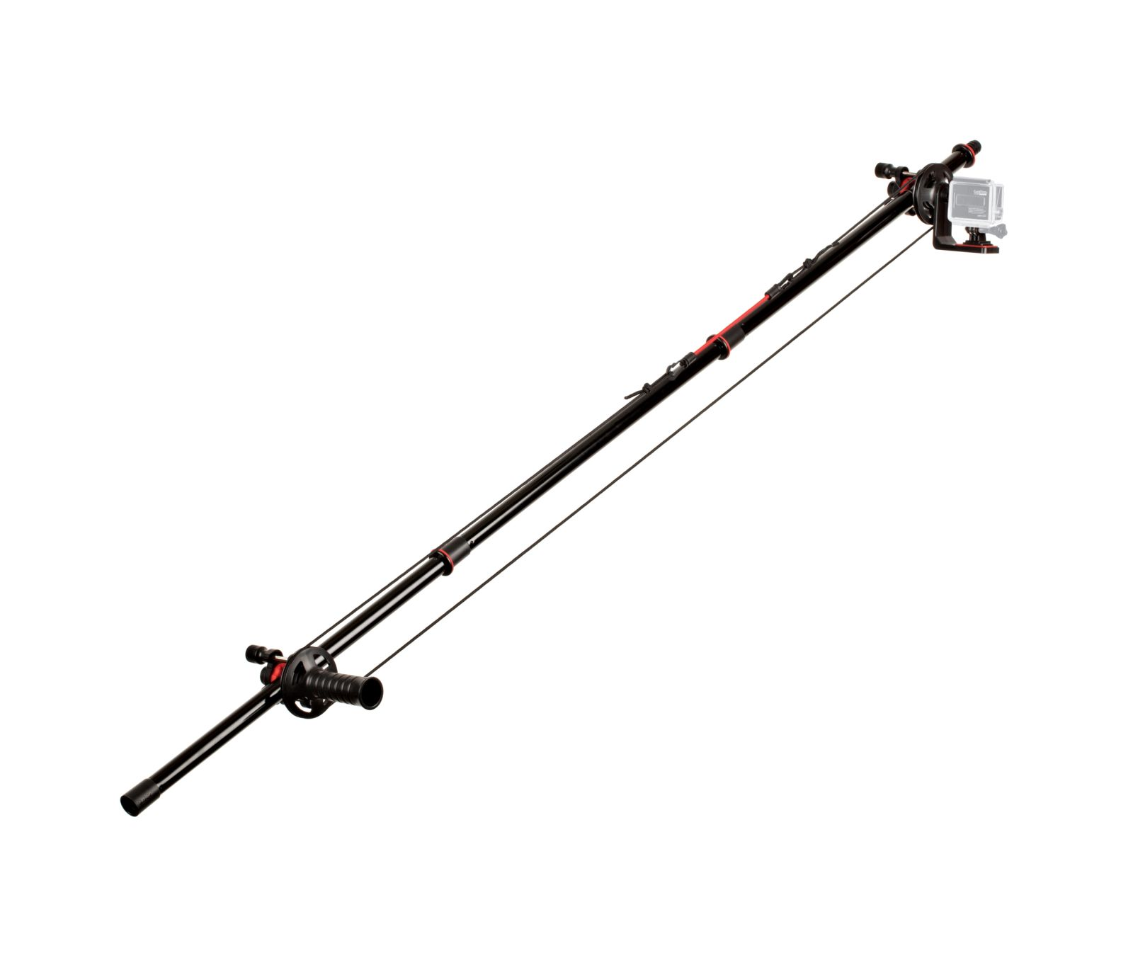 Action Jib Kit & Pole (Negro/Rojo)