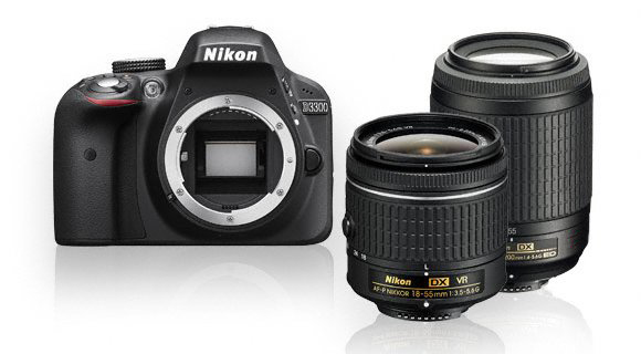 Nikon D3300 + 18 - 55mm + 55 - 200G VR (Outlet)