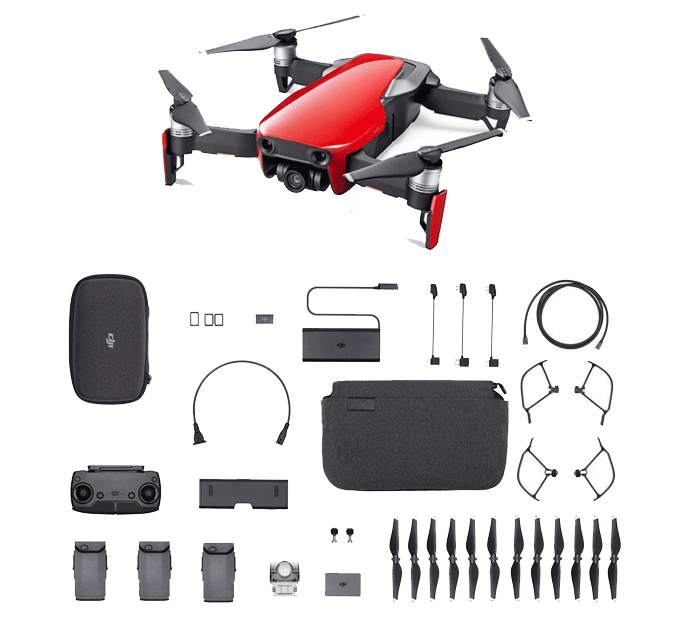 Dron DJI MAVIC AIR Pack Fly More Combo Flame Red